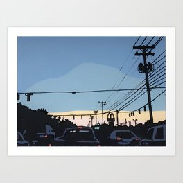 Reidville Road at Sunset Art Print