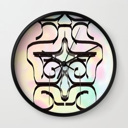 the avant-garde in pastel colours . Japanese illustration Wall Clock