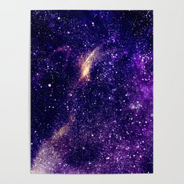 Ultra violet purple abstract galaxy Poster