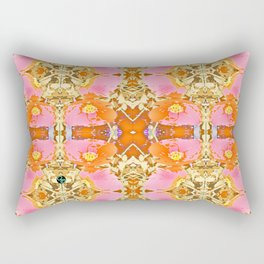 Pink & Orange Poppy 4 Rectangular Pillow