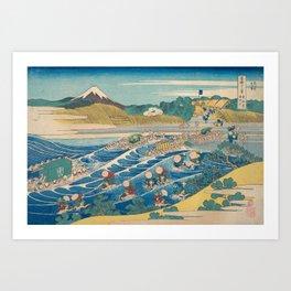 Katsushika Hokusai - Fuji Seen from Kanaya on the Tōkaidō Art Print