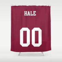 derek hale Shower Curtains featuring HALE - 00 by Mobscene93
