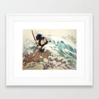 bouletcorp Framed Art Prints featuring Tsunami by Bouletcorp