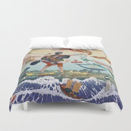 Ukiyo-e tale: The legend Duvet Cover