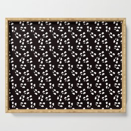 Irregular Dots, Black And White Serving Tray
