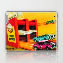 Vintage Hot Wheels Redline Dual-Lane Rod Runner Racing Poster Trade Print Laptop & iPad Skin