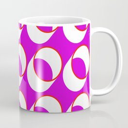 Red Tubes on Pink Coffee Mug