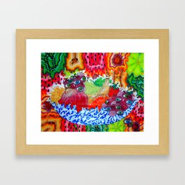 Funky Fruits Framed Art Print