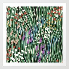 Windy Day In Garden Art Print