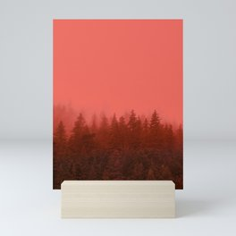0388 Chocolate Forest with Living_Coral Fog, AK Mini Art Print