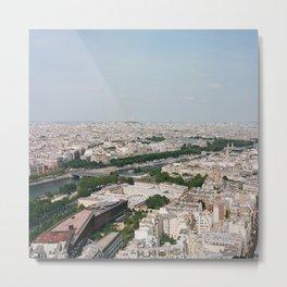 Paris From Above Metal Print