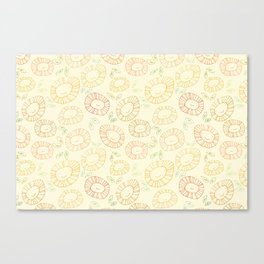smiley flowers Canvas Print