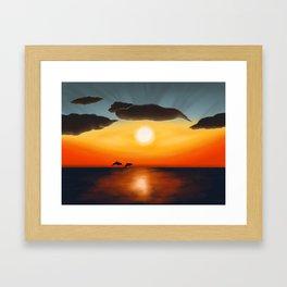 Wet Sunset Framed Art Print