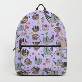 Pretty Sloth Pattern Backpack