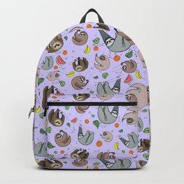Pretty Sloth Pattern Backpack