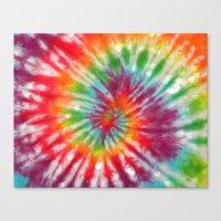 tye dye Canvas Prints featuring Tye Dye My Heart by AmorFati