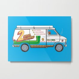 2 Bros. Plumbing Van Metal Print