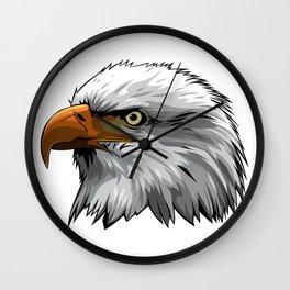 Colored eagle head Wall Clock