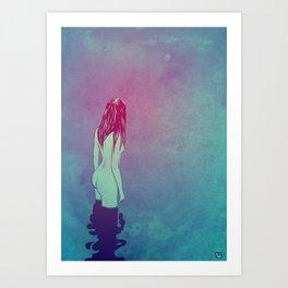 Skinny Dipping Art Print