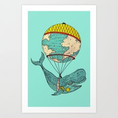 whale was all the world Art Print