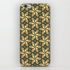 Flower Pattern Yellow/Deep Green iPhone & iPod Skin