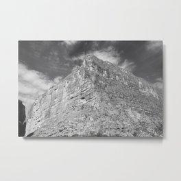 Mountain and Dark Sky Metal Print