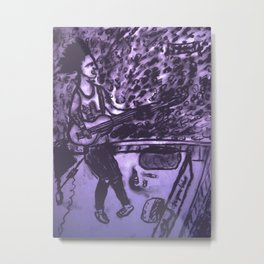 Sid Vicious Metal Print