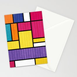 Mondrian Bauhaus Pattern #11 Stationery Cards