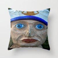 sailor Throw Pillows featuring Sailor by Fine2art