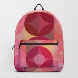 Layered Circles Geometric Pattern - Pink Backpack