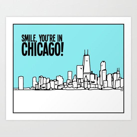 Smile Chicago Art Print