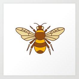 Bumble Bee Icon Art Print