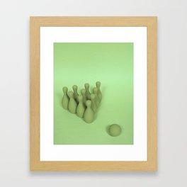 Child's Play - Green Framed Art Print