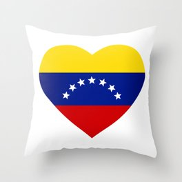 Venezuelan heart - Corazon Venezolano Throw Pillow