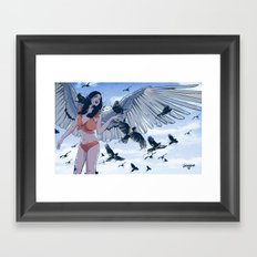 Raven Framed Art Print
