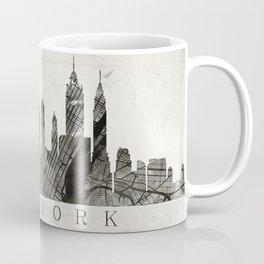 New York Skyline + Map #3 Coffee Mug