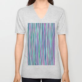 *STRIPE_COMPOSITION_3 Unisex V-Neck