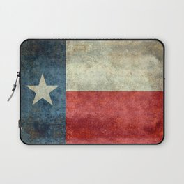 Texas flag, Retro distressed texture Laptop Sleeve
