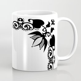 Black and white abstract pattern . Coffee Mug