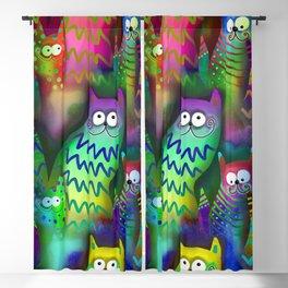 Rainbow Cats Blackout Curtain