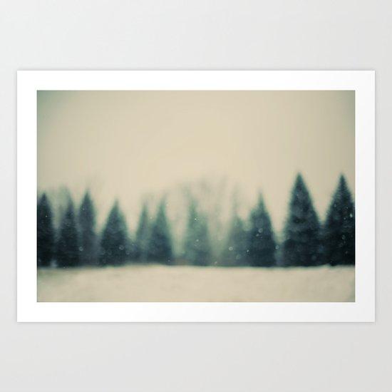 Frost and Fir Art Print