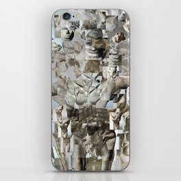 Leap - Sculpture Collage Photomontage iPhone Skin