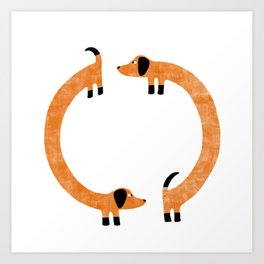 Sausage Dogs Art Print