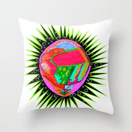 Porcupine Eye Throw Pillow
