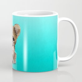 Cheetah Cub With Football Soccer Ball Coffee Mug