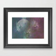 Sea,Moon Framed Art Print