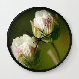 Two Flowers Wall Clock