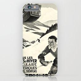 St Gervais Les Bains oude poster iPhone Case