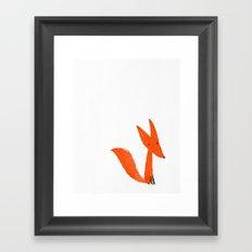 Brushstroke fox Framed Art Print