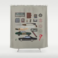 supernatural Shower Curtains featuring Supernatural (2015) by avoid peril